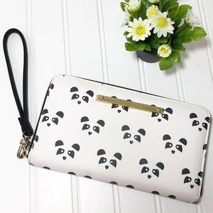 Betsey Johnson Black & White Panda Face Wallet